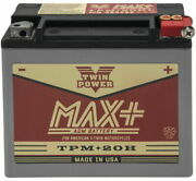 Twin Power Max + Tpm-20h Battery For Harley-davidson Softail Springer 1991-1992