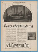 1923 Davenport Bed Of America Chicago Il 1920and039s Sofa Bed When Friends Call Ad