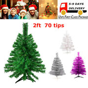 2ft Small Tabletop Christmas Tree Artificial Christmas Tree Multiple Colors