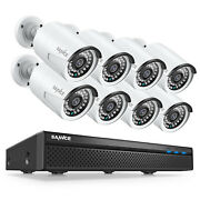 Sannce 5mp 8ch Nvr 1080p Poe Security Camera System Audio Monitoring Ip Network