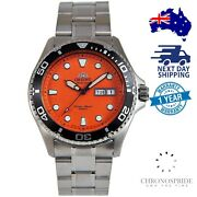 Orient Ray 2 Stainless Faa02006m9 Orange Divers Aa02006m Automatic Mens Watch
