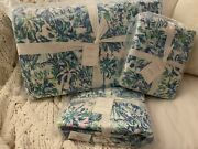 Nwt Pottery Barn Cabana Cocktail King Quilt + 2 K Shams Lilly Pulitzer Palm