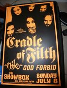 Cradle Of Filth 2001 Seattle Concert Poster 11x17