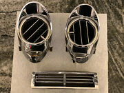1963 1964 Cadillac Dash Chrome Air Conditioning Vent All 3 Excellent Shape Oem