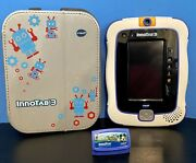 Vtech Innotab 3 Plus Learning Tablet W/original Stylus 1 Game And Travel Case Vguc