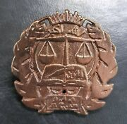 Afghanistan Educational Justice Copper Badge 3x3cm
