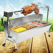 Large Roaster Spit Rotisserie Bbq Grill Roast Whole Lamb Chicken Pig Outdoor Us