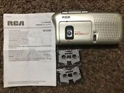 Rca Portable Micro Cassette Tape Recorder/player Rp3538r W/manual 2 Blank Tapes