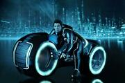 Undisplayed Hot Toys 1/6 Tron Legacy Sam Flynn With Light Cycle Mms142 Sf Toy