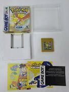 Pokemon Gold Version Game Boy Color, 2000 W/ Box And Inserts No Manual Saves