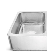 Anning Farmhouse Apron-front Crafted Stainless Steel 32 In. 50/50 Double Bowl Ki