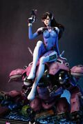 Mke Studio Overwatch Resin Statue 1/4 D.va Limited Statue With Led Ex Version