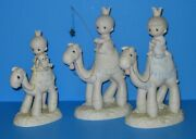 1981 Precious Moments Nativity Lg Set E5624 They Followed The Star Kings Camels