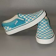 Off The Wall Size 1 White/blue Slip On Shoes 500714