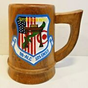 Vintage Usaf Us Air Force Support Center Pacific Afmc Oo-alc 525 Emxs Wood Stein