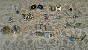 Vtg Mens Jewelry Lot Cuff Links Tie Tacs Pin Signed Anson Swank R Ster Glass Mop