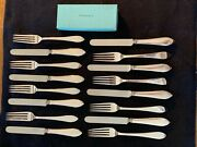 And Company Faneuil Sterling Silver Breakfast Set 8 Forks And 8 Knifes