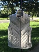 Euc Columbia Omni-heat Insulated Women Size M Quilted Puffer Vest Jacket Beige