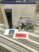 Ps5 Bundle Disc Console 2 Games 1 Yr Playstation Plus Membership And Gift Card