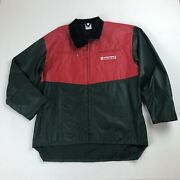 Mens Jonsered Red And Green Jacket Coat Sz Xl Rare Chainsaws Power Equipment 2002