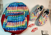 Off The Wall Shoes Mens Size 4.5 Multi Colored Checker Board Skate Shoes