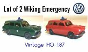 Lot Of 2 Volkswagen 1500 Wagon Fire And Police - Wiking Ho 187 Vw Beetle Variant