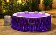 6 Person Inflatable Hot Tub Spa Saluspa With Led Lights,pillows,pump,remote Cont