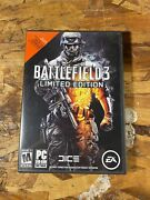 Battlefield 3 Limited Edition Pc 2011 Dvd-rom Ea Mature Rated 2 Disc Set