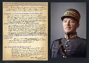 Swiss General Henri Guisan Autograph Questionnaire Signed And Mounted