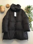 Zara Oversized Hooded Quilted Feather Down Anorak Puffer Coat Size L