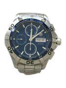 Secondhand Tagheuer Automatic Watchesaquaracer Chronograph Analog Stainless