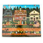 Charles Wysocki 1000 Piece Puzzle 4th Of July 1990 Mb