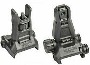 Magpul Mbus Pro Rear And Front Sights Steel Mag276 Mag275 Authorized Dealer New