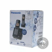 New Panasonic Kx-tgc362b Cordless Phone System With 2 Handsets In Black