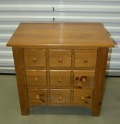 Ethan Allen Country Craftsman Apothecary Chest Pine 19-9304 657 Light Finish