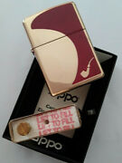 Solid Brass Zippo Lighter - Pipe Lighter Red In The Original Box New