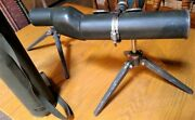 2 Rare M49 Military Observation Spy Sniper Scopes Tripods Case Wwii And Vietnam