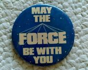 Original Star Wars May The Force Be With You, 3 Pinback Button By Image Factory
