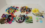 Vintage Huge Lot Barrettes Hair Clips Scrunchies Banana Clips Pony Tail Ties +