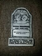 Garbage Pail Kids Tombstone Toy Figure Double Heather