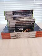 Xbox 360 Call Of Duty And Battlefield Bundle - 9 Games - 3 Guides - Euc Complete