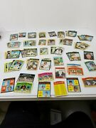Lot Over 100 Tops Mlb 1970, 1971, Baseball Cards And Fleer Team Logo Stickers