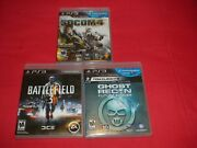 Tom Clancyand039s Ghost Recon Future Soldier-socom 4-battlefield 3playstation 3 Ps3