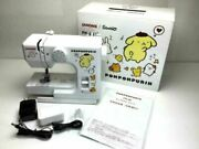 Rare Sanrio Pom Pom Purin Sewing Machine Compact Janome Pn-20 Exclusive To Japan