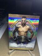 Tj Dillashaw Ufc 2019 Topps Chrome Octagon Of Honor Insert Oh-td