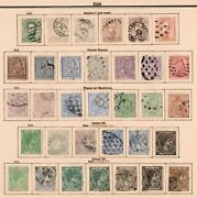 1873-1907 Stamp Collection Nearly Complete Also American Occupation / O
