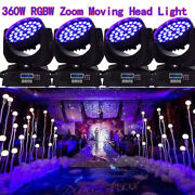 8pcs 360w Rgbw 4in1 Led Zoom Moving Head 36x10w Wash Light Dmx Stage Show Party