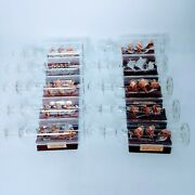 Mayflower Glass Collection. 10 Ships In A Bottle 7 With Plaque And Base. Po