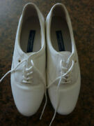 Easy Spirit Anti-gravity Esmotion White Leather Tie Up Shoes Size 7