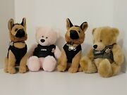 Lot Of 4 Lvmpd Plush Animals Police Bears And Dogs Hero Industries Dolls Las Vegas